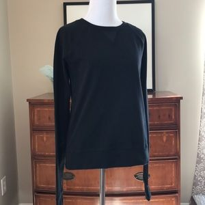 Lululemon Crew Neck Pullover Sweatshirt Log Sleeve